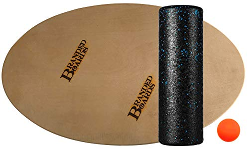 Branded Boards Made in USA Balance Board Elliptical Surf Trainer for Exercise, Skateboarding, Snowboarding, Skiing, SUP, Surfing, Wake Boarding, Office & General Fitness