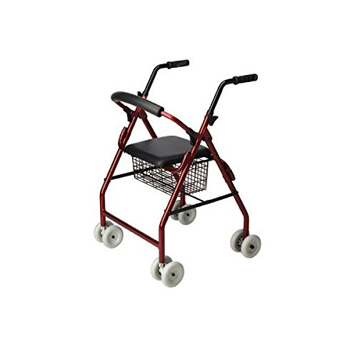 Andador de 4 ruedas -Andador para ancianos con asiento ...