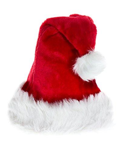 Kascha 2er Set Weihnachtsmütze - Mütze aus dickem weichem Plüsch Rot Weiß - Nikolausmützen