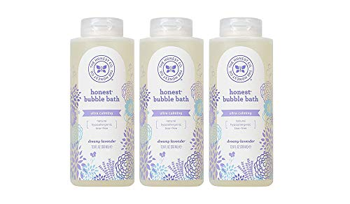 The Honest Company Calming Lavender Hypoallergenic Bubble Bath with Naturally Derived Botanicals, Dreamy Lavender, 12 Fluid Ounce (3 Bottles)