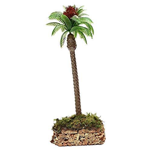 BERTONI Palma Individual H 20 cm con Base de Corcho Miniature Alberi Presepe57612
