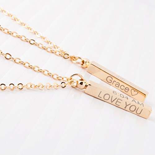Personalized gift Baby-Children-Teen Dainty Necklace 16K Gold Plated Birthday Child Safety ID Birth Information First day of school Customized Baby Gift