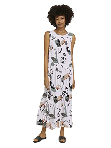 TOM TAILOR mine to five 1025649 Maxi Vestido, 26750-Diseño Floral, 36 Regular para Mujer