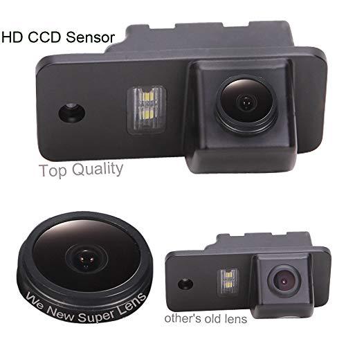 Dynavsal 1280*720 Pixel 1000TV Lines Super Pro Objectif Imperméable HD Vision Nocturne Caméra de Recul Remplacement pour A3 A4 A5 A6 A8 Q3 Q5 Q7 A6L A8L A4L TT TTRS TTS Passat 5D B7 B8 B9 R36 RS5 S6