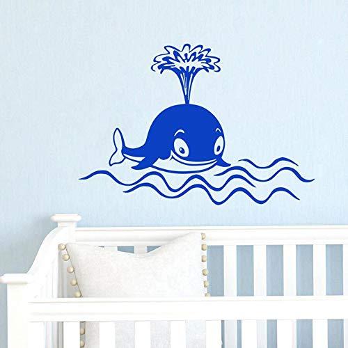 Niños delfín ballena pared calcomanía ventana vinilo pegatinas habitación de bebé niños dormitorio guardería decoración del hogar pez estilo marino Mural
