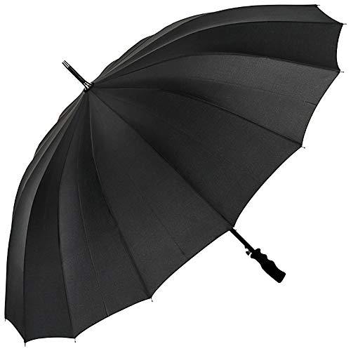 VON LILIENFELD Regenschirm XXL Durchmesser 120 cm Partnerschirm Auf-Automatik Sturmfest Cleo Schwarz