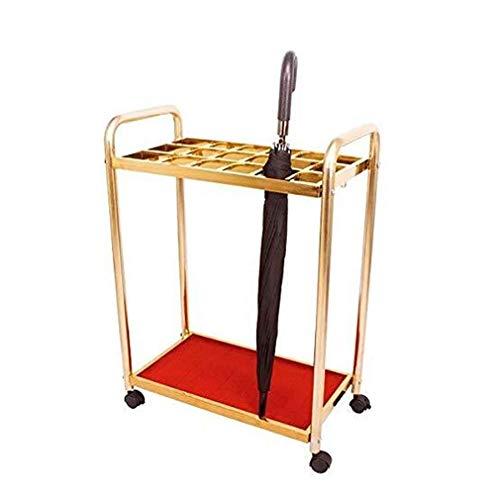 NYDZ Roestvrij Indoor Gold-Entryway Hal voor Long/Short Paraplu 18 koppen