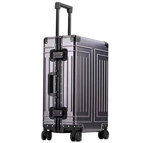 SFBBBO luggage suitcase aluminum travel suitcase hard travel trolly case new aluminium luggage 24' gray