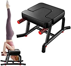 Papepipo Stable Yoga Headstand Bench - Ideal Yoga Inversion Chair with Armrests and Thickened Shoulder Cushion(Black)