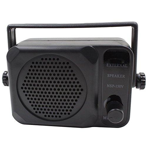 KENMAX 3.5mm Jack Adjustable Volume Communication Ham Mini External Speaker for Motorola Kenwood Yaesu Midland Icom HYT Mobile Transceiver CB Radio