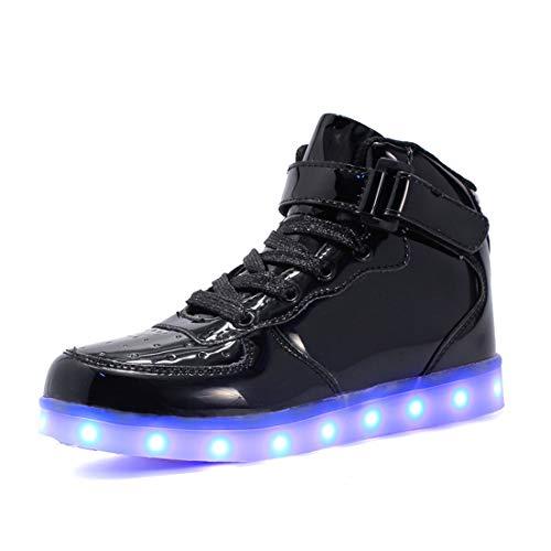 LED Schuhe Kinder 10 Farbe USB Auflade Leuchtend Sportschuhe, Kinder Jungen Mädchen Unisex Multi-Color-Blink LED Sneaker