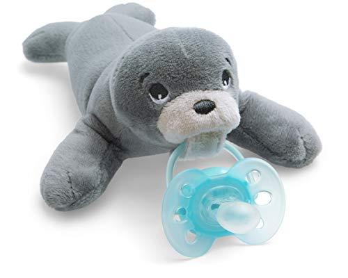 Philips Avent Snuggle Robbe SCF348/14, Kuscheltier mit Schnuller ultra soft, ideales Geschenk für Neugeborene und Babys, Schnullertier