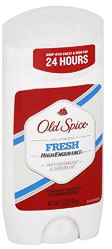 Old Spice High Endurance antisudorifique Déodorant invisible solide frais 3 oz (Pack of 8)