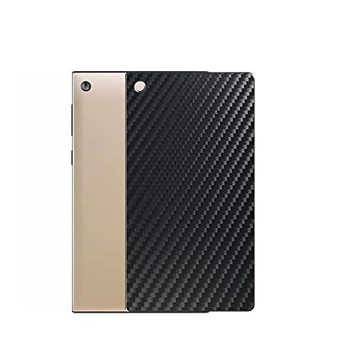 VacFun 2 Piezas Protector de pantalla Posterior, compatible con ASUS MeMO Pad 7 ME572CL 7', Película de Trasera de Fibra de carbono negra Skin Piel
