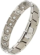 Elegant Titanium Magnetic Therapy Bracelet Pain Relief for Arthritis and Carpal Tunnel (Silver)