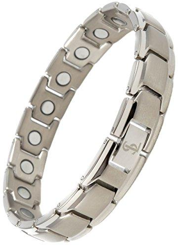Smarter LifeStyle Elegantes Magnetisches Therapie-Armband Aus Titan Schmerzlinderung Für Arthritis Und Karpaltunnelsyndrom Für Herren Und Frauen Silber