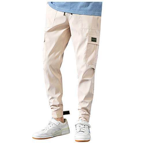 YpingLonk Pantalones de chándal para Hombre, Pantalones de chándal Ajustados para el Gimnasio, el Tiempo Libre Pantalones