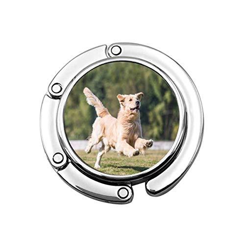 Nette Faltbare Geldbörse Kleiderbügel Geldbörse Haken Tiere Golden Retriever Spielen Gras Süße Hunde Goldenretriever Säugetiere