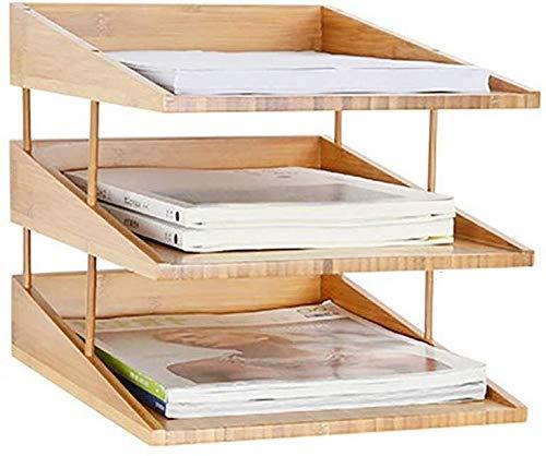 Bestand Kast Letter Lade Bamboe Milieu Office Desktop Supplies Hout Kwaliteit briefpapier Lak Behandeling Meerdere Lagen Natuurlijke Bamboe Opbergdoos