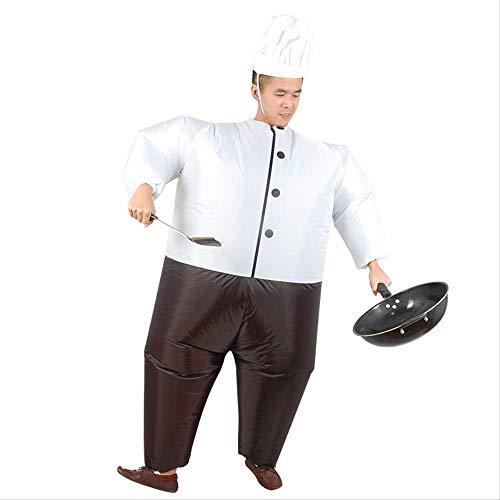 LQH Sumo Ropa inflables, Cocinero Divertido de la marioneta Molde de Aire Traje, Ropa Inflable