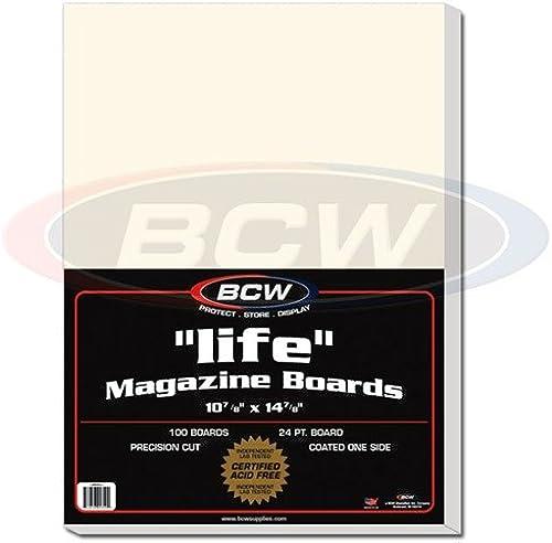 Life Magazine & Program (10 7 8 X 14 7 8 inch) Storage Backing Board x 100 pack