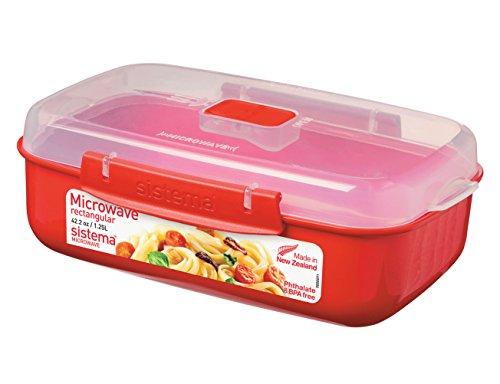 Sistema Mikrowellen-Box, Plastik, rot, 1.25 L
