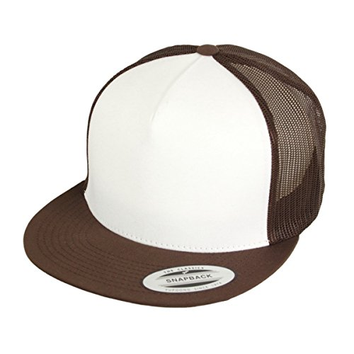 Flexfit Kappe Classic Trucker Snapback Cap Brown White Brown - Einheitsgrösse, verstellbar