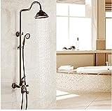 Ducha de ducha, conjunto de ducha retro chino europeo, elevable, de mano, baño, ducha termostática, sistema de ducha, sistema de ducha, conjunto de ducha