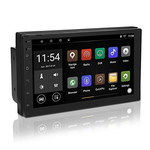 Autoradio Doppel Din Radio GPS Navigation, 7 Zoll 1+16G Touchscreen Bildschirm Ausfahrbar, Bluetooth Freisprecheinrichtung, Smart Android Radio Stereo Multimedia Player MP5 DVD Player