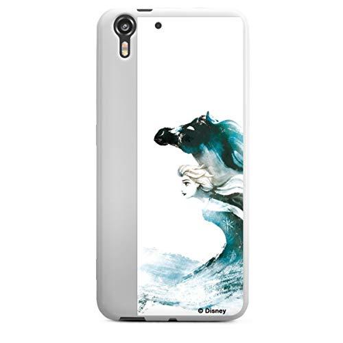 Silikon Hülle kompatibel mit HTC Desire Eye Hülle weiß Handyhülle Die Eiskönigin 2 Frozen ELSA Disney
