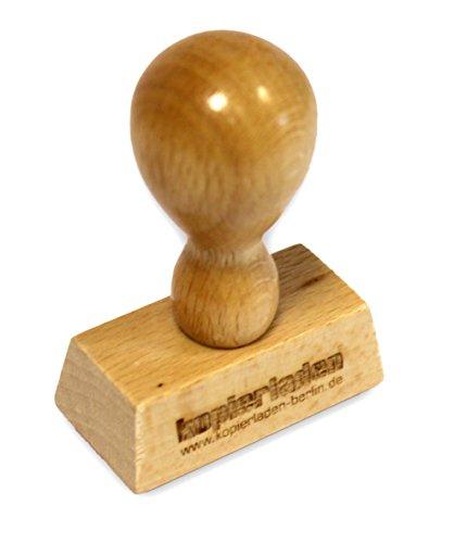 Holzstempel 40 mm, mit individueller Stempelplatte - Stempel selbst gestalten - Bürostempel, Textstempel, Adressstempel