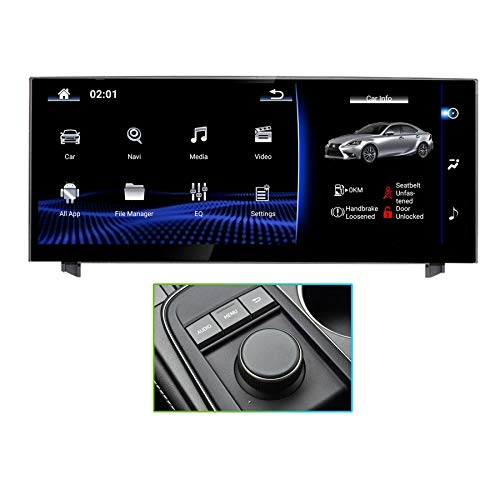 Android 9.0 System10.25 inch 1920x720 Blue-ray Touch Screen Radio 8 core 4GB+32GB Car Stereo GPS Navigation for 2013-2018 Lexus IS250 IS300 IS300H IS350 IS200T F Sport RC300 RC300H RC350 RC200T RC F