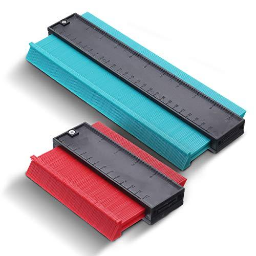 2 Packung Kunststoff Kontur Messgerät Profil Messgerät Duplizierer Kopieren Irregulär Formen Rückverfolgung Vorlage Messwerkzeug