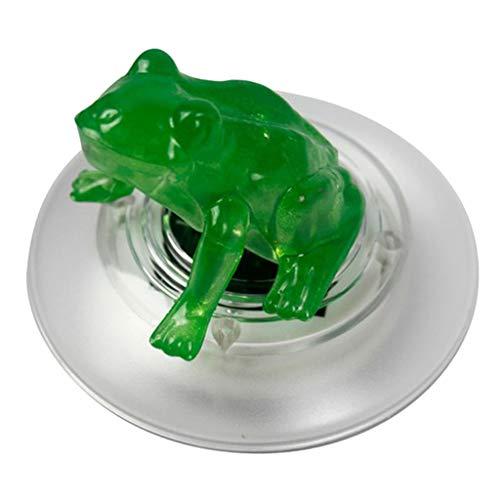 FLAMEER Solarlicht LED Nachtlicht schwimmende Frosch/Lotus Teichlampe der Hingucker für Schwimmbad und Halloween Geburtstag Deko - Frosch
