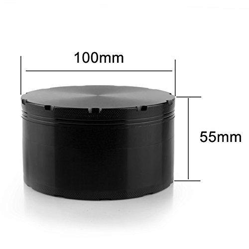 Formax420 XX-Großschleifer 100 mm 4 Zoll Größter Kräuterschleifer Gewürzmühle Schwarz