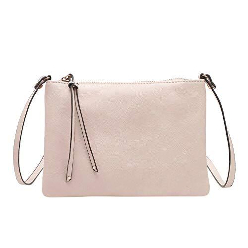 FORU Official StoreNBO Borse donna messenger bag PU shell bag nabuk piccola borsa a tracolla borsa donna borsa #F-in Top,Beige, (A tinta unita), Taglia unica