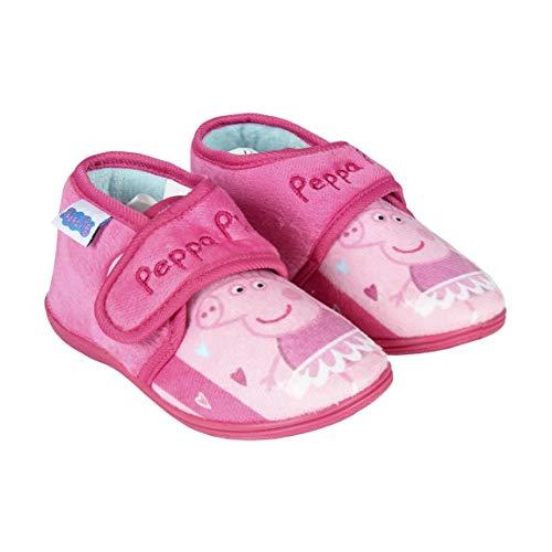 Artesania Cerda Zapatillas De Casa Media Bota Peppa Pig, Niñas, Rosa (Rosa C07), 22 EU