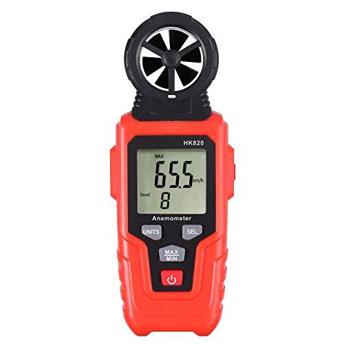 Anemómetro Digital Portatil Anemometro Termometro Medidor de Velocidad y Temperatura del Viento Pantalla LCD con Luz para Windsurf Navegación Surf Pesca,Ventilación, Respiración