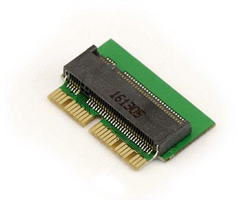 Adaptador SSD M.2(NGFF) – Para reemplazar el original PCIe SSD de 12 + 16 pines de un MacBook 2013/2014/2015/2016 con una SSD M2.