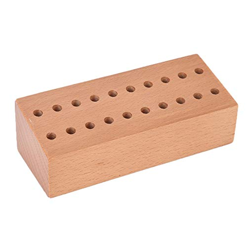 Soporte de destornillador de madera maciza, almacenamiento de brocas de material de madera resistente y duradero, tiempo de servicio prolongado práctico para relojeros