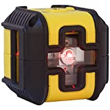 Stanley Stht77502 - 1 Cross90 Laser Level Cross   Squaring - Red Beam - Range Up to 12 m - Comes with 2 Accessories and Batteries - Waterproof - Fits On Tripod - Works with Batteries