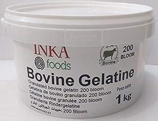 Gelatina granulada de bovino, 200 bloom, sabor neutro - 1kg