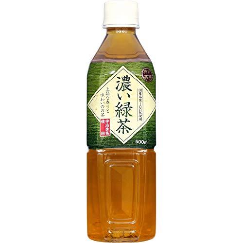 富永貿易 神戸茶房 濃い緑茶 500mL×4本入
