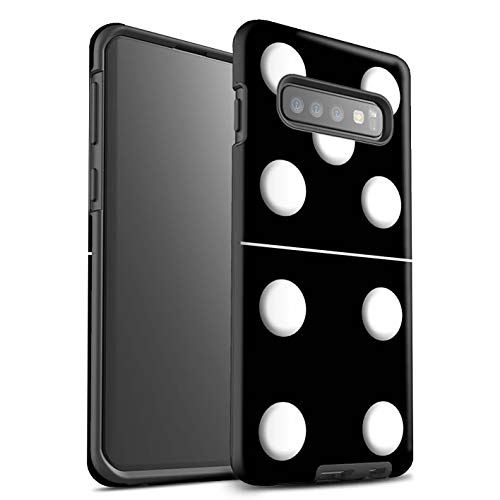 eSwish Phone Case/Cover/Skin/SG-3DTBM/Dominoes/Dominos Collection Samsung Galaxy S10 Plus Piastrella Nero 5/4