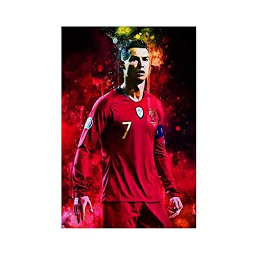 Cristiano Ronaldo Poster 89 sur toile pour décoration murale de salon, chambre à coucher, sans cadre : 30 x 45 cm