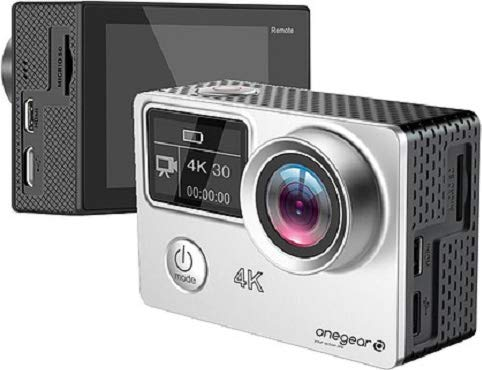 One Gear Action Cam 4K 30fps Résolution 16 Mpx USB Silver PRO 4K Plus