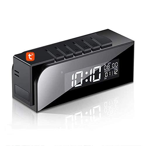 Reloj Digital Tuya, Cámara IP De Detección De Movimiento Oculta WIFI Inalámbrica,...