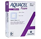 AQUACEL Foam dressing has a soft absorbent Foam pad, an AQUACEL interface, a gentle silicone adhesive, and a waterproof/bacteria barrier.
