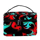 TIZORAX Bolsa de cosméticos con patrón Barroco de Colores Estuche de tocador de Viaje Caja de Organizador de Maquillaje Grande