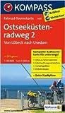 Ostseeküstenradweg 2 - von Lübeck nach Usedom: Fahrrad-Tourenkarte. GPS-genau. 1:50000. (KOMPASS-Fahrrad-Tourenkarten) ( Juli 2013 )